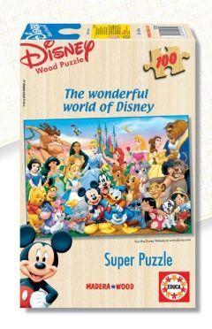 SUPER PUZZLE MADERA 100 * EL MARAVILLOSO MUNDO DE DISNEY