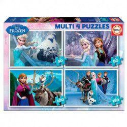 MULTI 4 PUZZLES * FROZEN 50-80-100-150
