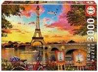PUZZLE 3000 * PUESTA DE SOL EN PARIS
