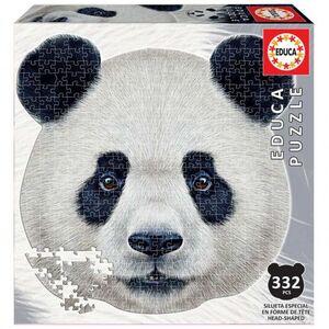 ANIMAL FACE SHAPED PUZZLE 332 * OSO PANDA