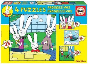 PUZZLES PROGRESIVOS * SIMON 12-16-20-25