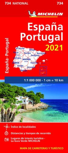 MAPA NATIONAL PORTUGAL, ESPA¥A 2021 (11734)
