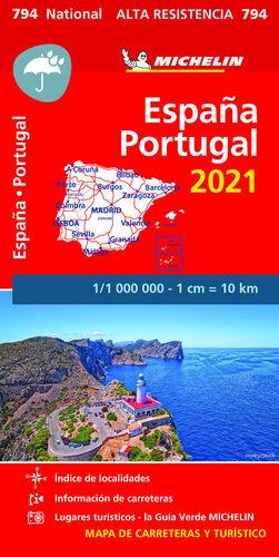 MAPA NATIONAL ESPA¥A, PORTUGAL 2021 - ALTA RESISTE