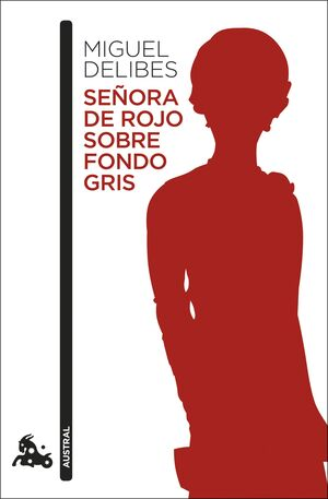 Nº 663 SEÑORA DE ROJO SOBRE FONDO GRIS