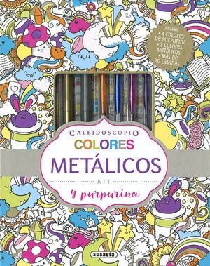 COLORES METALICOS Y PURPURINA - CALEIDOSCOPIO
