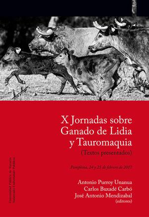 X JORNADAS SOBRE GANADO DE LIDIA Y TAUROMAQUIA